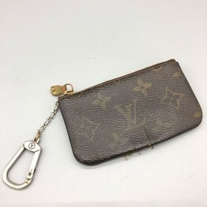 AS IS Auth Louis Vuitton key cles keychain pouch